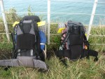 Backpacks taking a rest at the viewpoint