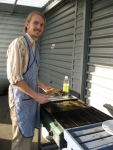Peter, grilling on our Wednesday fish night
