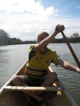 Peter, paddling the Whanganui